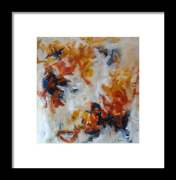 Abstract Framed Print featuring the painting Balance And Harmony Abstract Painting by Karla Beatty