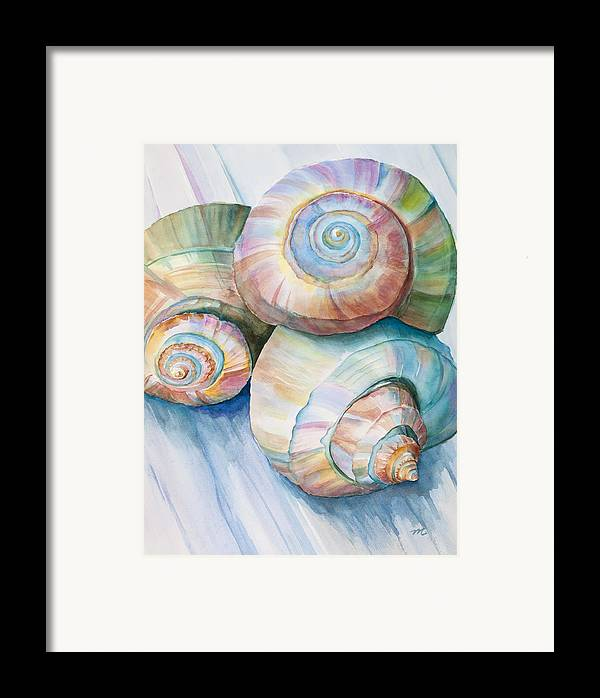 Spirals Framed Print featuring the painting Balance In Spirals Watercolor Painting by Michelle Wiarda-Constantine