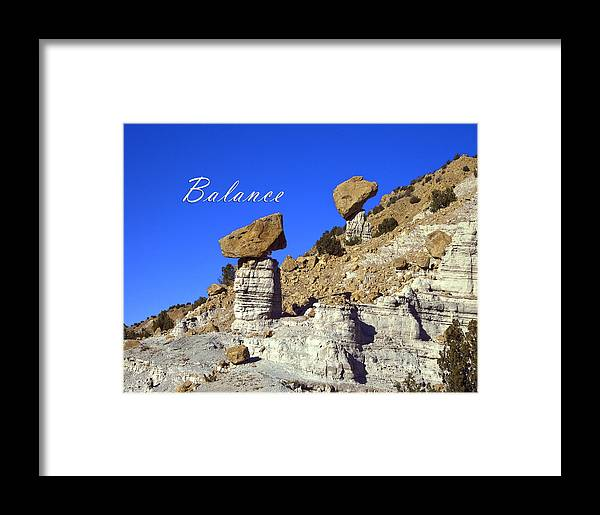 Zen Framed Print featuring the photograph Balance by Lou Novick