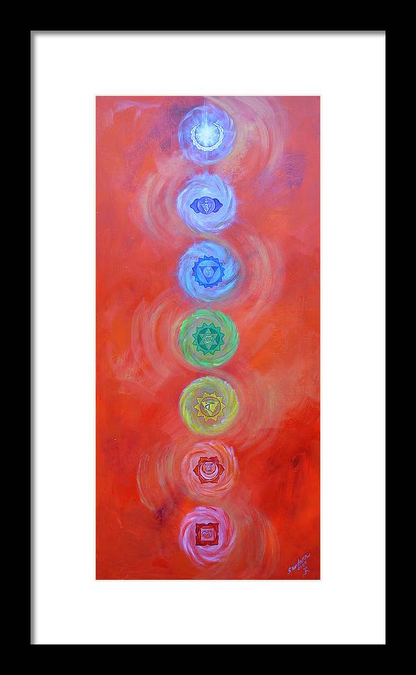Chakra Framed Print featuring the painting Balance by Sundara Fawn