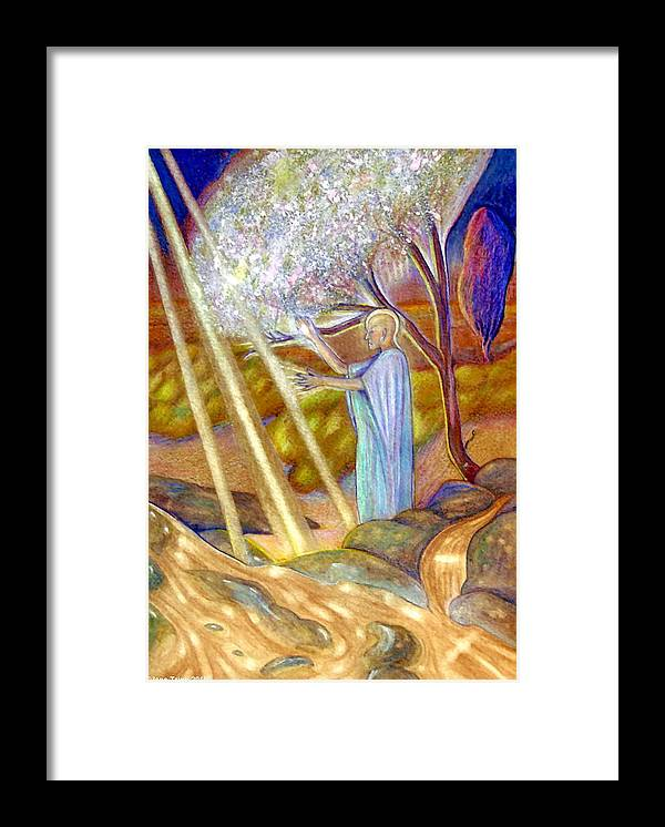 Mythic Art Framed Print featuring the painting Balancing Energy by Jane Tripp