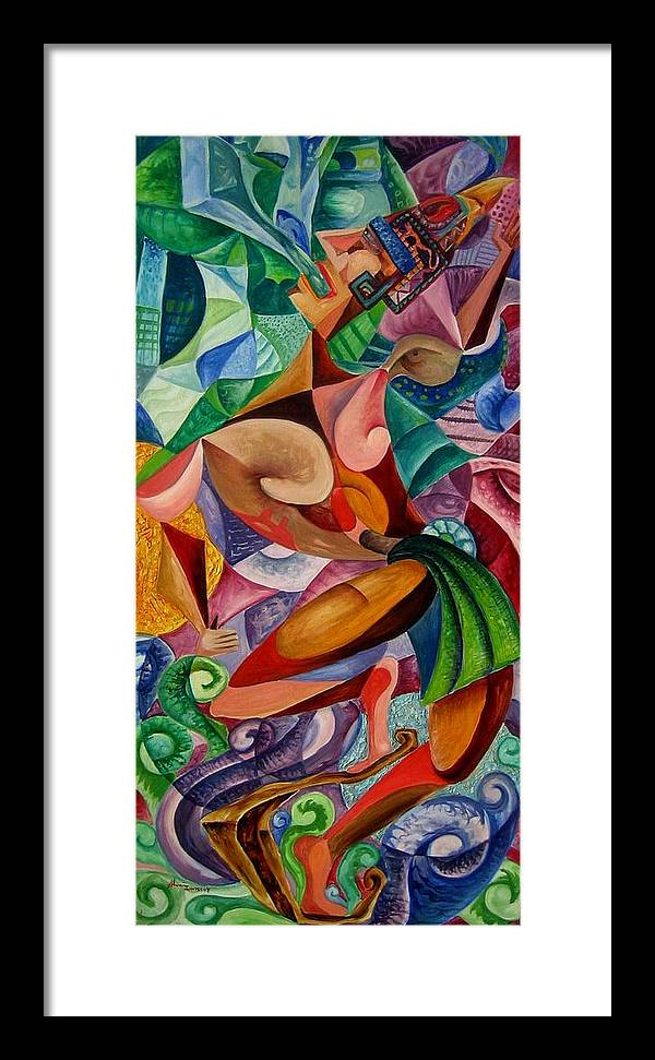 Painting Paintings Mexican Art Painting Framed Print featuring the painting Balancing With What Is Given by Horacio Montes