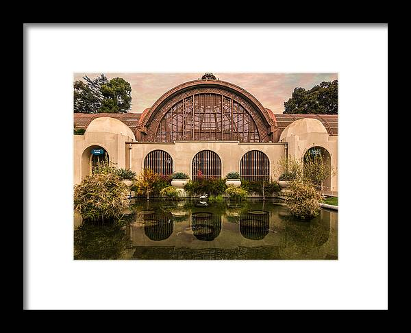 Building Framed Print featuring the photograph Balboa Park Botanical Building Symmetry by Patti Deters