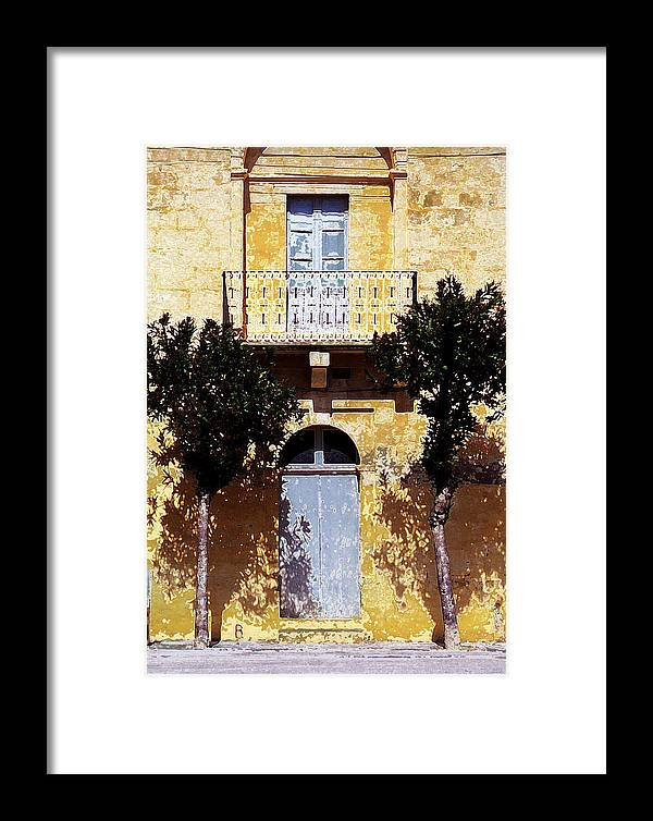 Balcony Framed Print featuring the photograph Balcony In The Sun by Mike Bambridge