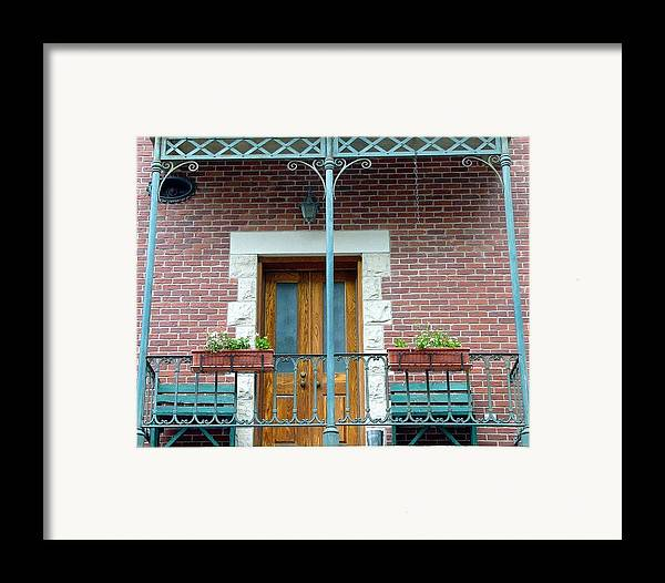 Architect Framed Print featuring the photograph Balcony by Kenna Westerman