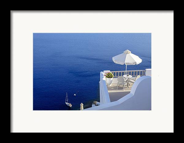 Balcony Framed Print featuring the photograph Balcony Over The Sea by Joana Kruse