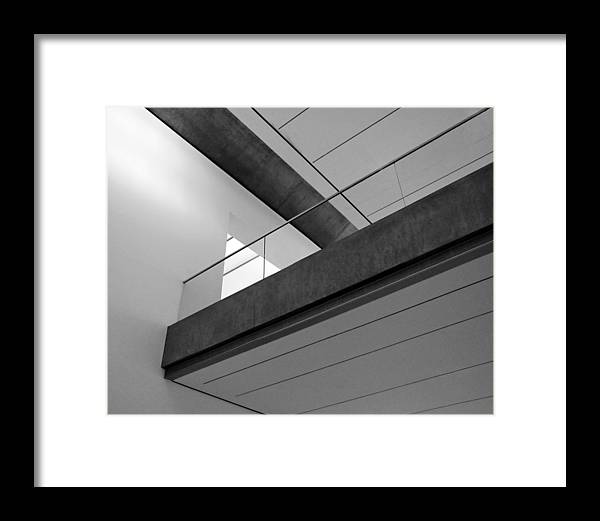 Architechture Framed Print featuring the photograph Balcony by Slade Roberts