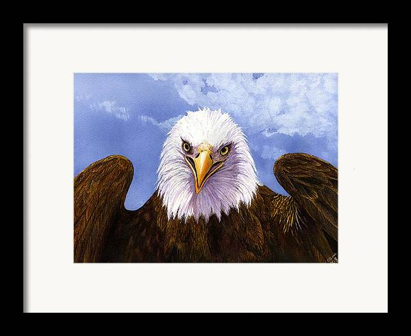 Eagle Framed Print featuring the painting Bald Eagle by Catherine G McElroy