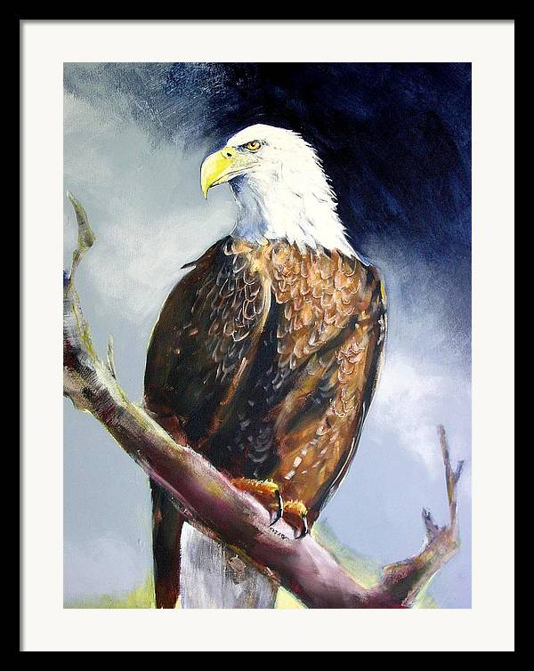 Wildlife Framed Print featuring the painting Bald Eagle by Paul Miller