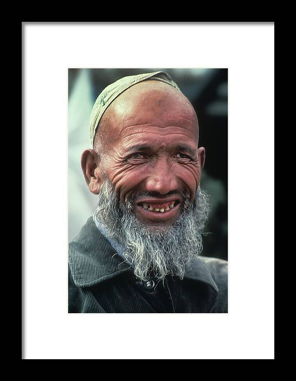 Bald Man Framed Print featuring the photograph Bald Man In Mongolia by Carl Purcell