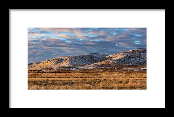 Lassen Framed Print featuring the photograph Bald Mountain At Dawn 2 by The Couso Collection
