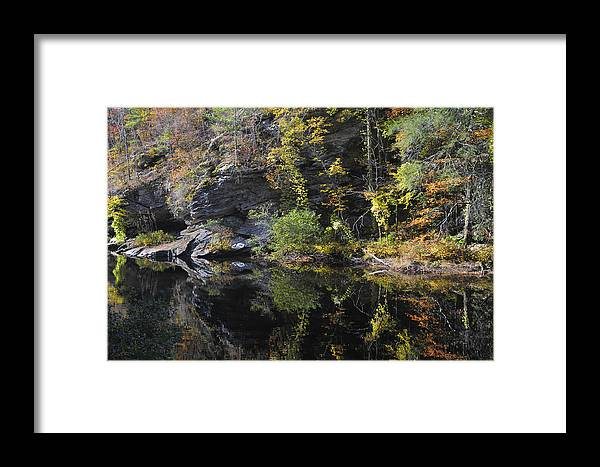 Bald River Framed Print featuring the photograph Bald River Autumn Reflection by Darrell Young