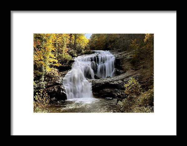 Autumn Framed Print featuring the photograph Bald River Falls In Autumn by Darrell Young