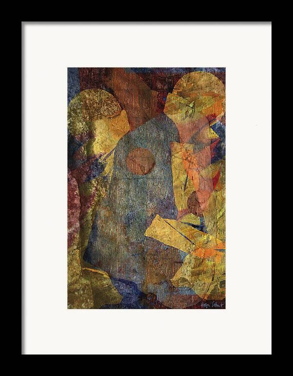 Abstract Framed Print featuring the digital art Ball Game by Helga Schmitt