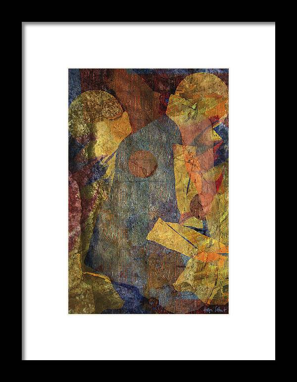 Abstract Framed Print featuring the digital art Ball Game by Helga Schmitt