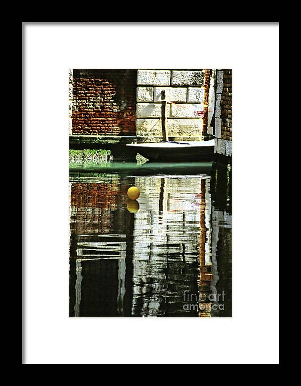 Venice Framed Print featuring the photograph Ball On A Canal In Venice by Michael Henderson