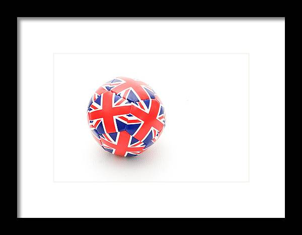 Background Framed Print featuring the photograph Ball by Tom Gowanlock