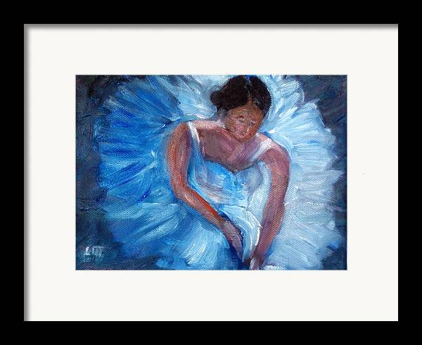 Ballet Framed Print featuring the painting Ballerina 1 by Lia Marsman