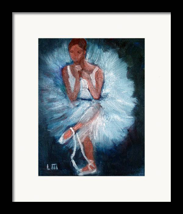 Classical Dance Framed Print featuring the painting Ballerina 2 by Lia Marsman