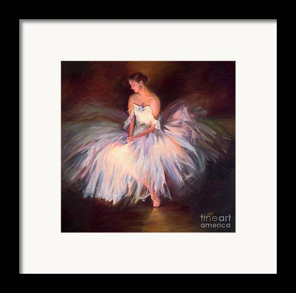 Best Selling Art Prints Framed Print featuring the painting Ballerina Ballet Dancer Archival Print by Patti Trostle