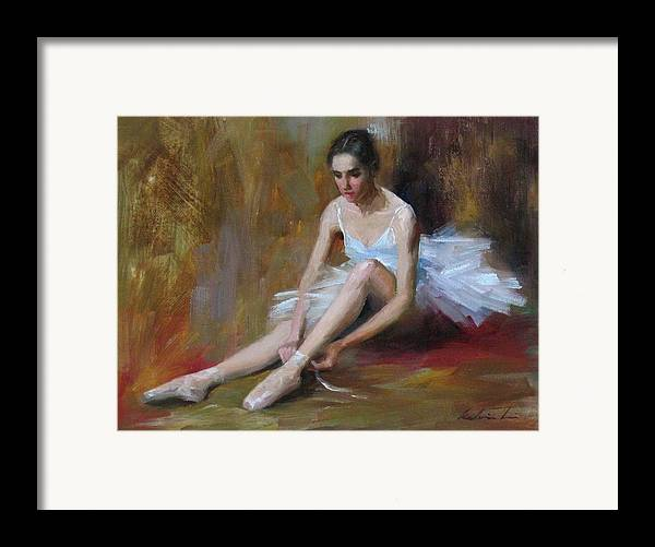 Figurative Framed Print featuring the painting Ballerina D by Kelvin Lei