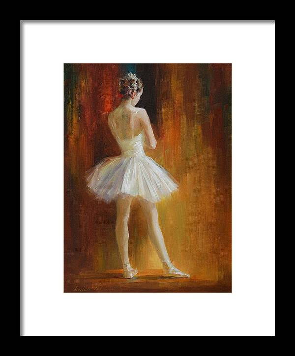 Framed Print featuring the painting Ballerina by Kelvin Lei
