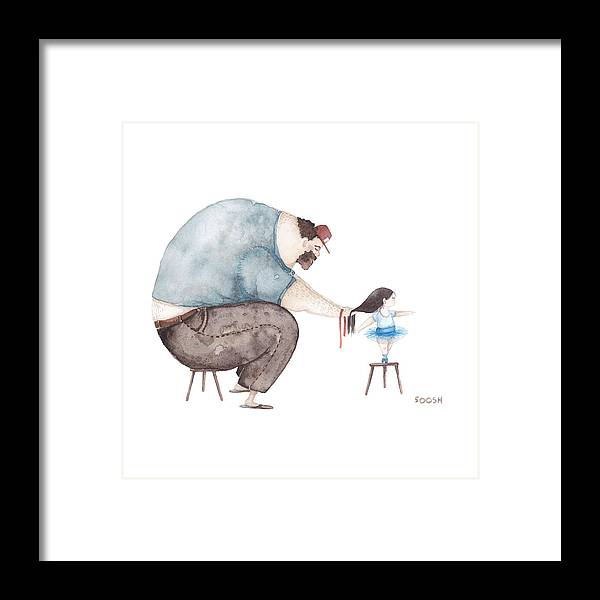 Bysoosh Framed Print featuring the painting Ballerina by Soosh