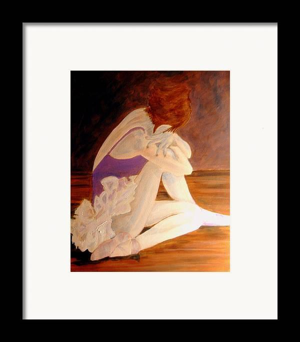 Ballerina Framed Print featuring the painting Ballerina04 - Acrylic by Donna Hanna