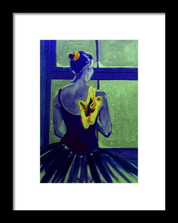 Ballet Dancers Framed Print featuring the painting Ballerine En Hiver by Rusty Gladdish
