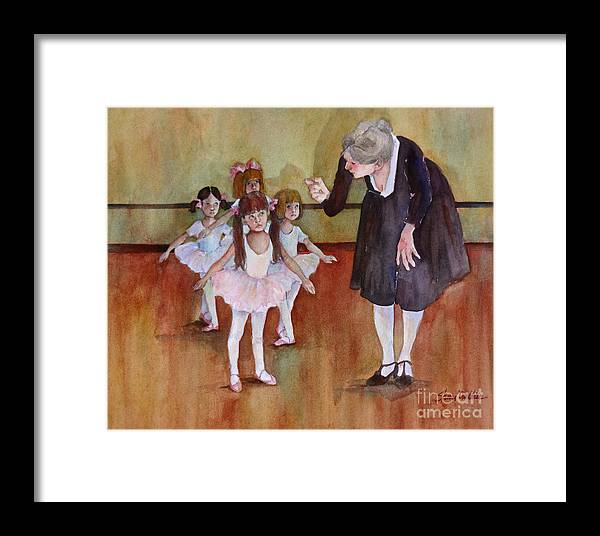 Ballet Framed Print featuring the painting Ballet Class by Sherri Crabtree