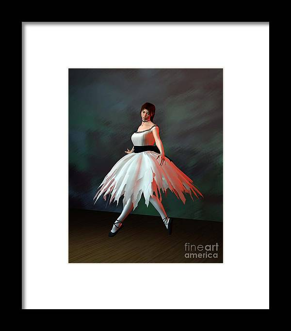 Ballet Framed Print featuring the digital art Ballet Dancer by John Junek