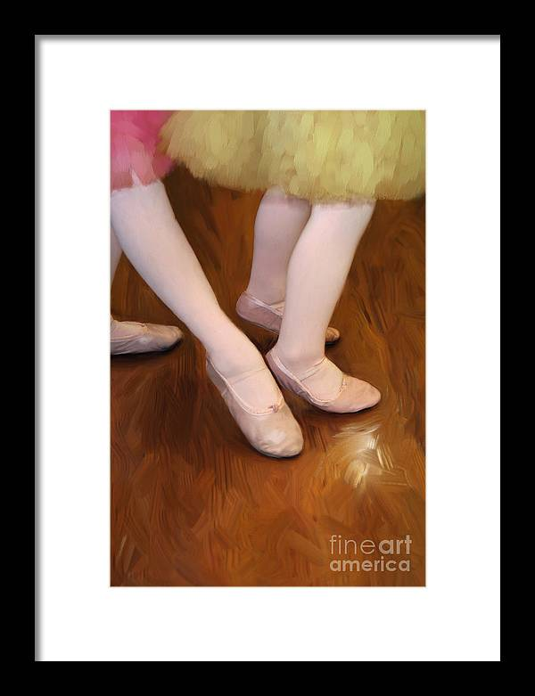 Young Framed Print featuring the photograph Ballet Girls by Jeannie Burleson