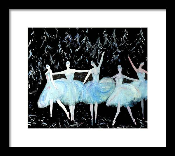 Ballet Framed Print featuring the painting Ballet In Blue by Michela Akers