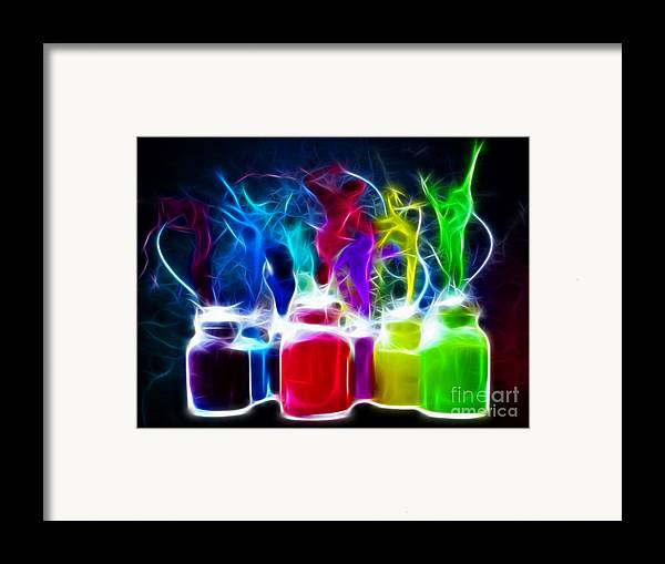 Colors Framed Print featuring the mixed media Ballet Of Colors by Pamela Johnson
