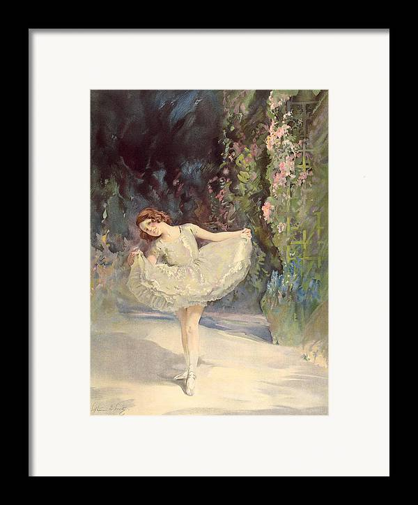 Ballet Framed Print featuring the painting Ballet by Septimus Edwin Scott