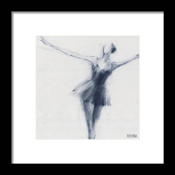 Ballet Framed Print featuring the drawing Ballet Sketch Dying Swan by Beverly Brown