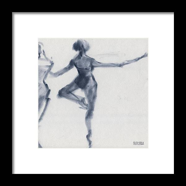Ballet Framed Print featuring the drawing Ballet Sketch Passe En Pointe by Beverly Brown