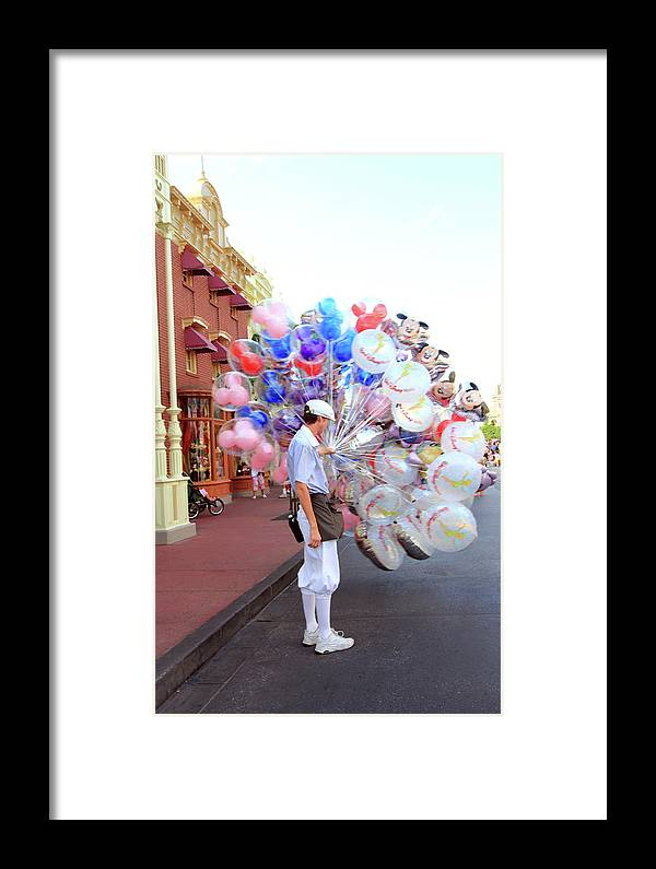 Balloons Framed Print featuring the photograph Balloon Boy by Mary Haber