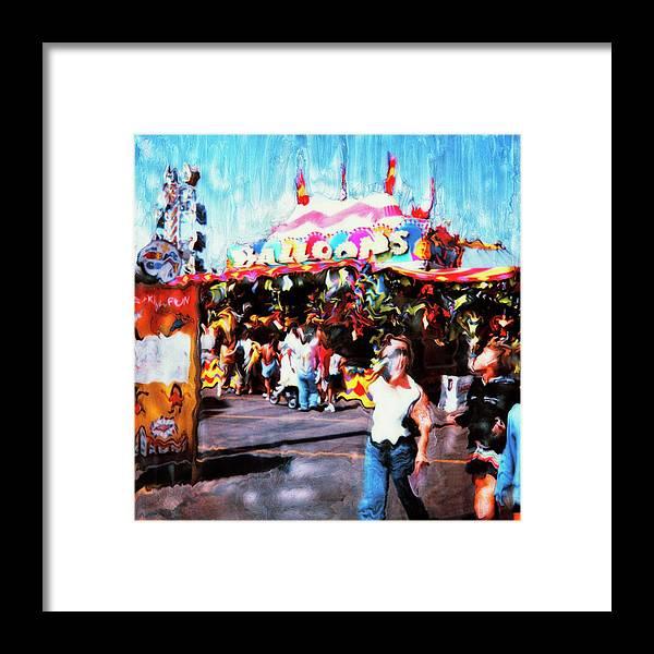 Paul Tokarski Framed Print featuring the photograph Balloon House by Paul Tokarski