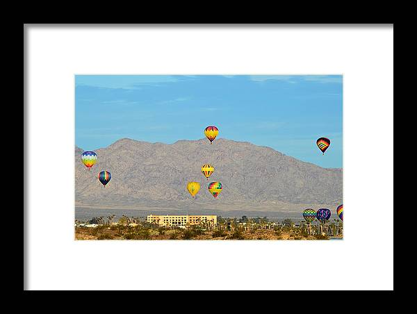 Balloons Framed Print featuring the photograph Balloons by Barbara Angle