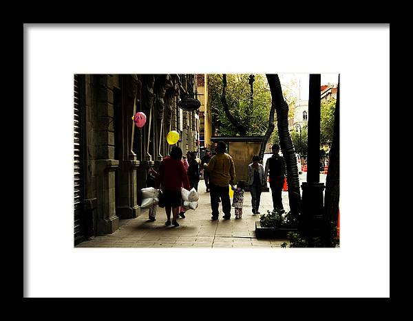 Balloons Framed Print featuring the photograph Balloons In Mexico City by Carmen Sandoval