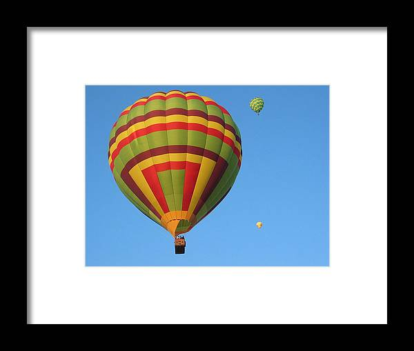 Hot Air Balloons Framed Print featuring the photograph Balloons New Mexico by Margaret Fortunato