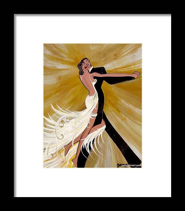 Dancers Artwork Framed Print featuring the painting Ballroom Dance by Helen Gerro