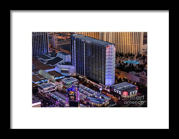 Las Vegas Framed Print featuring the photograph Bally's Hotel, Las Vegas by Sv