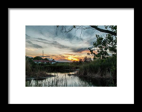 Texas State Parks Framed Print featuring the photograph Balmorhea Sunset by Chelsea Burnett