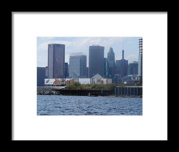 Baltimore Framed Print featuring the photograph Baltimore Harbor by James and Vickie Rankin