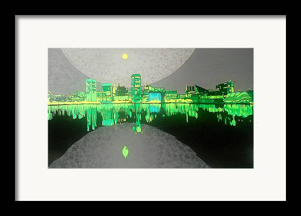 Landscape Framed Print featuring the painting Baltimore by Jason Charles Allen