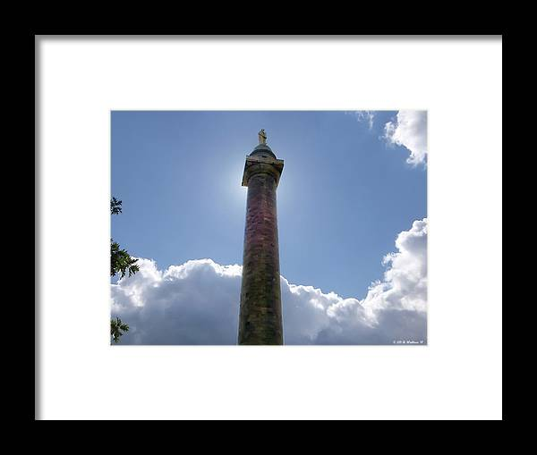 2d Framed Print featuring the photograph Baltimore's Washington Monument by Brian Wallace