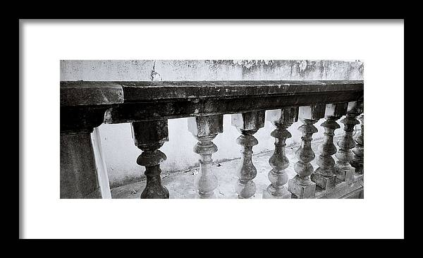 Chiaroscuro Framed Print featuring the photograph Balustrade by Shaun Higson