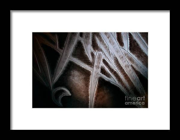 Abstract Framed Print featuring the photograph Bamboo Abstract by Venetta Archer